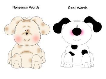 CVC and Nonsense Word (NWF) Sort Dog Theme