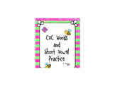 CVC and Short Vowel Practice