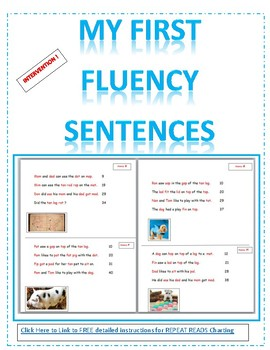 CVC and Sight Word FLUENCY SENTENCES- Intervention