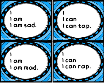 CVC and Sight Word Sentence Cards