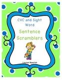 CVC and Sight Word Sentence Scramblers
