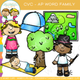 CVC Clip Art: -AP Word Family Clip Art { Volume One }