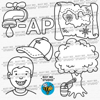 CVC -ap Word Family Clip Art