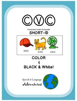 CVC articulation [short a] Color & Black & White