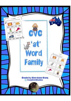 CVC 'at' Word Family