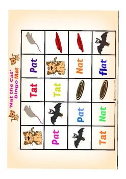 CVC 'at' Word Family Bingo Game