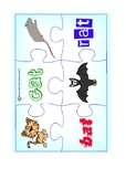 CVC 'at' Word Family Jigsaw Puzzles