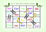 CVC 'at' Word Family Snakes n Ladders