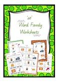 CVC 'at' Word Family Worksheets