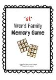 CVC 'at' Words Memory Card Game