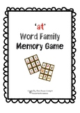 CVC 'at' Words Memory Card Game