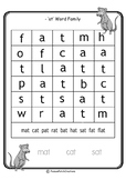 CVC 'at' Words - Word Search