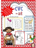 CVC AT WORKSHEETS, STORIES, PUZZLE FLASHCARDS and FLUENCY HELPER