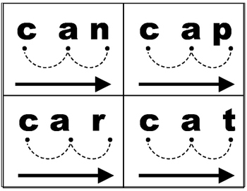 CVC blending word cards