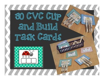 CVC clip and build Task Cards