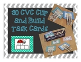 CVC clip and build Task Cards