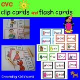 CVC clip cards and flash cards bundle