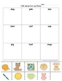 CVC cut and paste worksheet