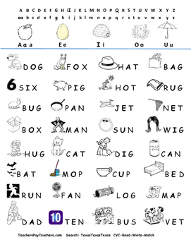 CVC differentiated unit!  Read, write, sound out, word and picture match