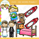 CVC Clip Art: -ed Word Family Clip Art {Volume One}
