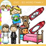CVC Clip Art: -ed Word Family Clip Art {Volume One}