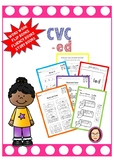 CVC -ed word work, reading passages, fluency book