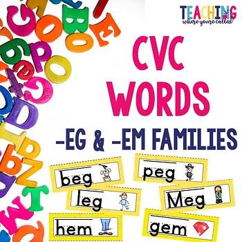 CVC -eg and -em Words