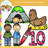 CVC Clip Art: -en Word Family Clip Art {Volume One}