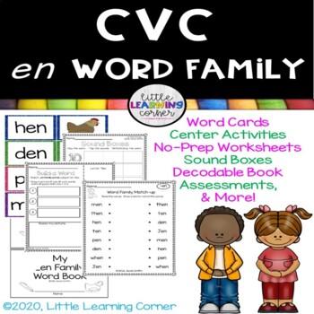 CVC en Word Family Packet ~ Short e