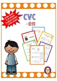CVC -en word work, reading passages, fluency book