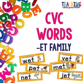 CVC -et Words