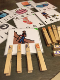 CVC final k words clothes pin activity