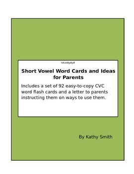 CVC flashcards for parents