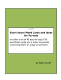 CVC flashcards for parents