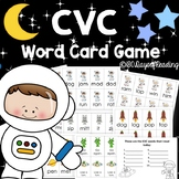 Spaced Themed CVC Review Game to Practice Short Vowel Fluency
