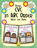 CVC in ABC Order Write the Home Bundle | Distance Learning