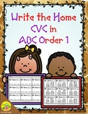 CVC in ABC Order Write the Home (Set 1) | Distance Learning