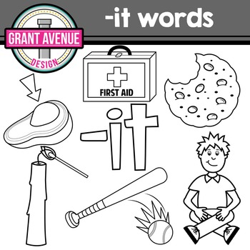 CVC -it Word Family Clipart