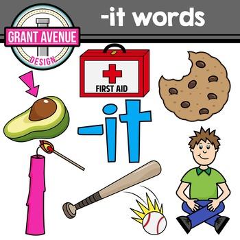 CVC -it Word Family Clipart