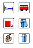 CVC matching words to pictures task (WIDGIT symbolised)
