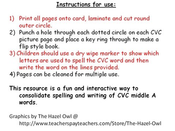 CVC middle A flip book
