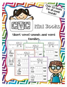 CVC mini books for short vowel sounds and word families