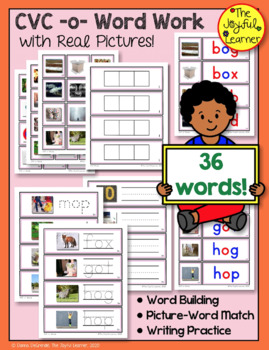 CVC -o- Word Work (with 36 Words & Real Pictures)