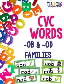 CVC -ob and -od Words