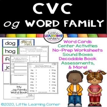 CVC og Word Family Packet ~ Short o