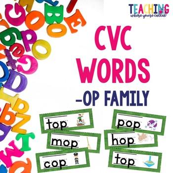 CVC -op Words