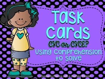 CVC or CVCE Task Cards