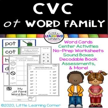 CVC ot Word Family Packet ~ Short o