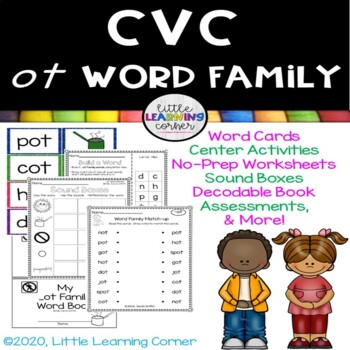 CVC ot Word Family Packet ~ Short o