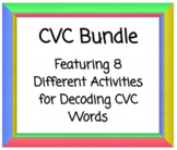 CVC packet: Fill-in the Initial, Middle, or Final letters